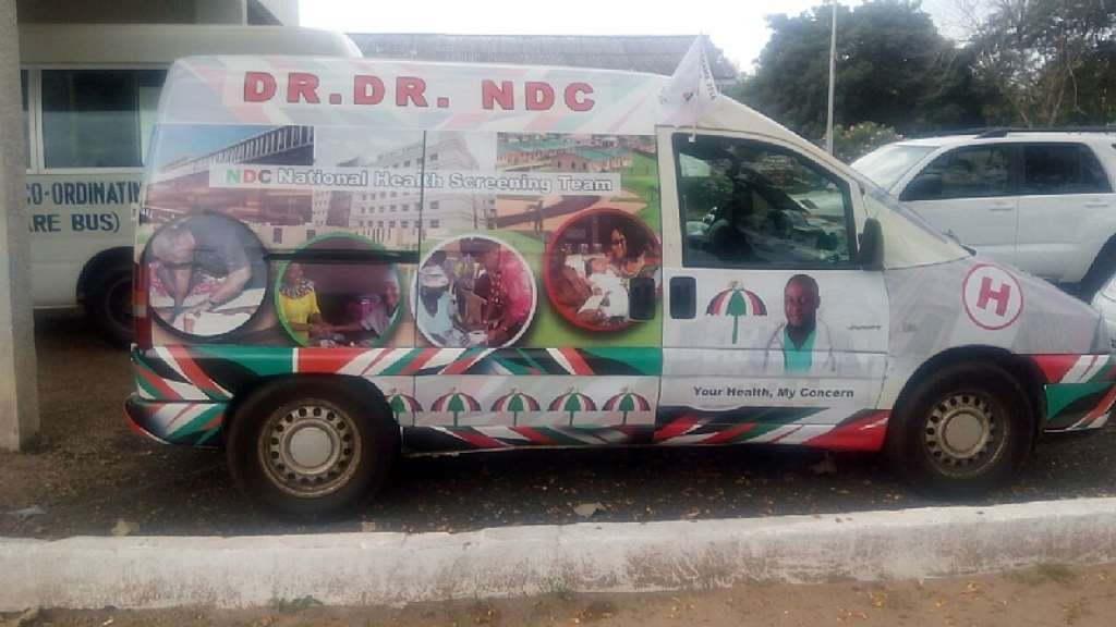 2016 Elections: NDC Commence Mobile Health Screening In Volta Region