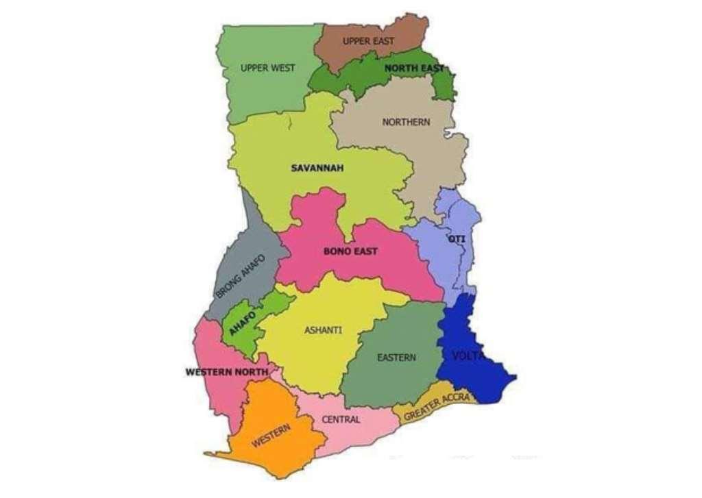 Map Ghana Regions Ghana Now Has 16 Regions