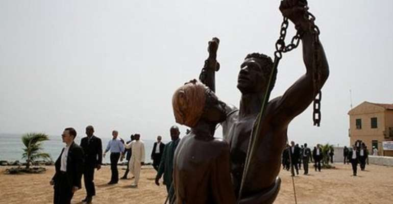 About 12m Africans were forced onto European slave ships