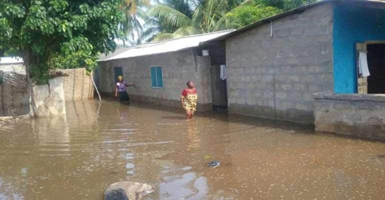 Keta Floods Renders Over 5,000 Residents Homeless