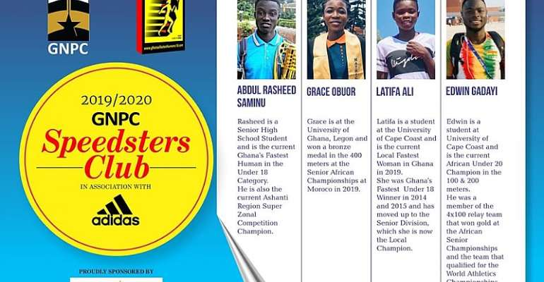 Four Athletes Picked For 2019/2020 GNPC Speedsters Club