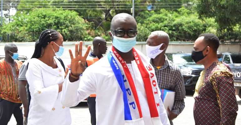 Korle Klottey Constituency: NPP's Lawyer Prince Appiah Debrah Submits Nomination Forms