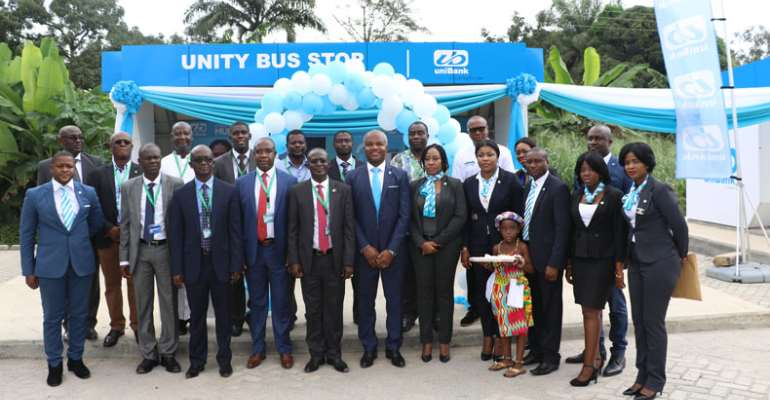 UniBank Supports KNUST With Bus Stops