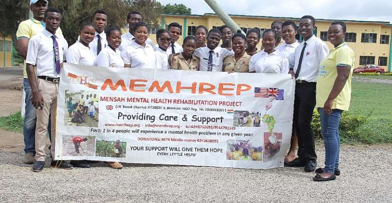 """MEMHREP Holds World Mental Health Day With Students In The Effutu Municipality On The Theme """"suicide Prevention"""" S"""