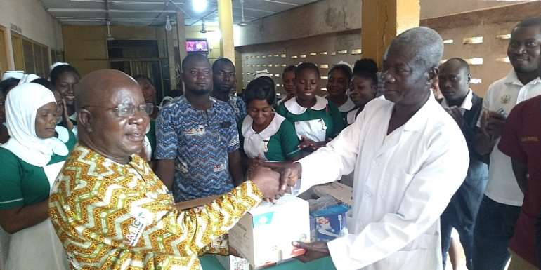 East Gonja: NABCO Beneficiaries Donate Fans To Salaga Hospital