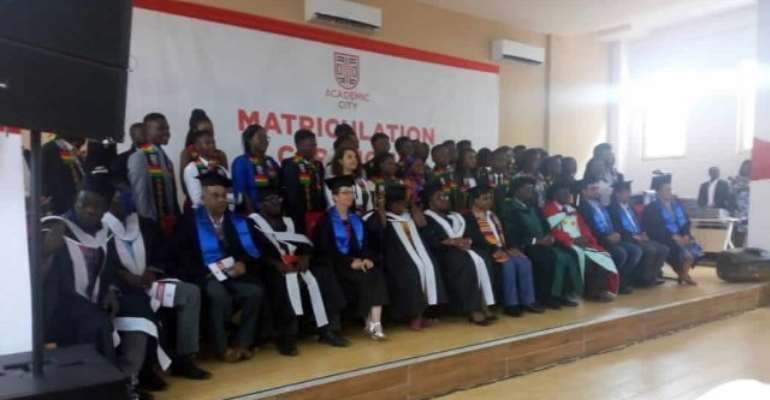 A cross-section of the matriculating students