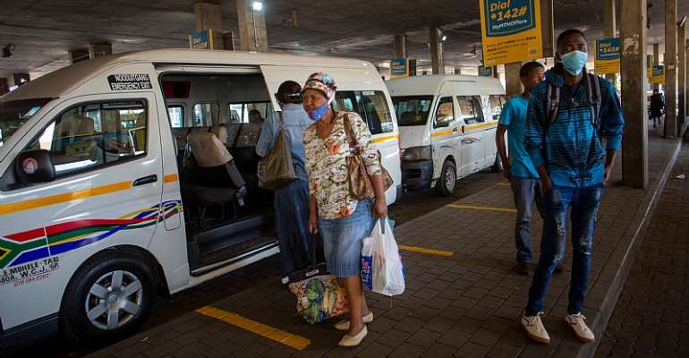 Profit margins in South Africa's minibus taxi industry have been under pressure long before the COVID-19 lockdown.  - Source: Karel Prinsloo / AFP via GettyImages