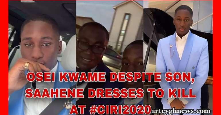Osei Kwame Despite Son, Saahene Dresses To Kill At #CIRI2020