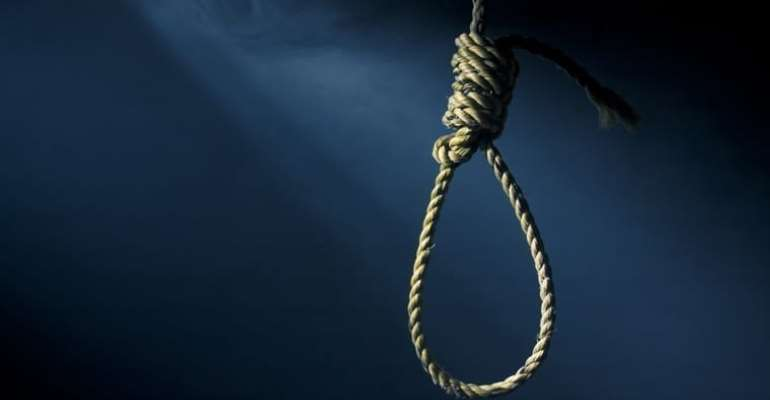 Staff of Abura Dunkwa Government Hospital hangs in his room