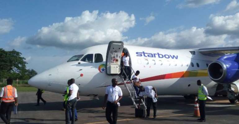 Starbow resumes Tamale flight with new aircraft