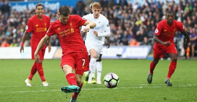 Swansea 1-2 Liverpool: Milner penalty earns Reds narrow win [Photos]