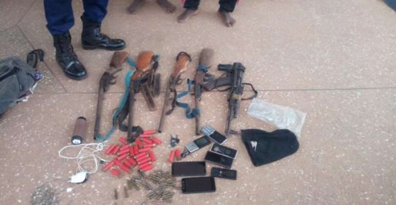 Salaga: Suspected Robbers Grabbed With AK47, Shotguns