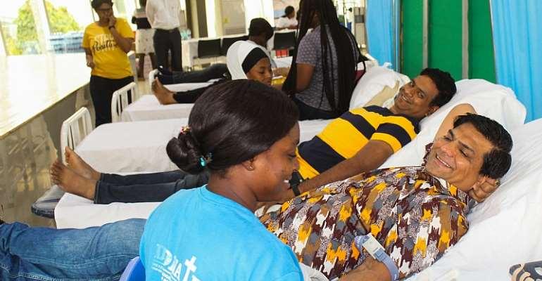 B5 Plus, DPS International Hold Blood Donation Exercise