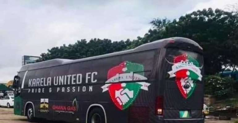 Karela Utd Outdoor Newly-Branded Bus For 2020/2021 Season