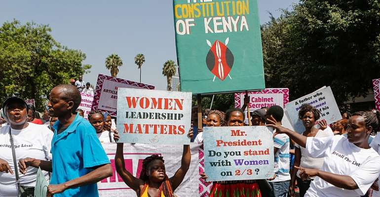 The constitutional requirement for better gender balance in Kenya's institutions has been delayed for years.                             - Source: Daniel Irungu/EPA-EFE