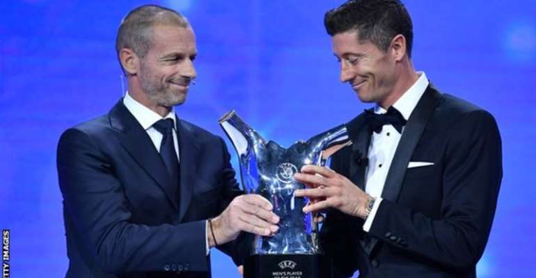 Robert Lewandowski (right) scored 15 goals and made six assists in 10 Champions League games as Bayern Munich were crowned European champions