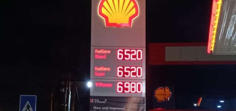 Fuel prices increased by 12pesewas; a litre now sells at GHS6.52
