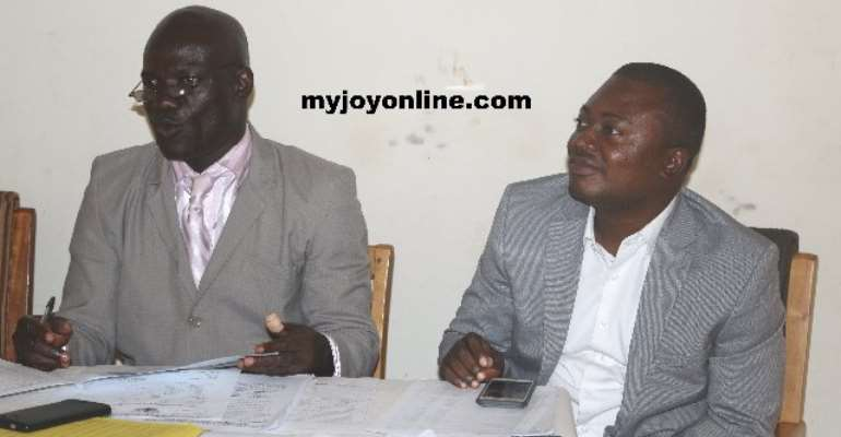 Mr. Agyemang Prempeh(left) and Mr. Oti Boateng(DCE)