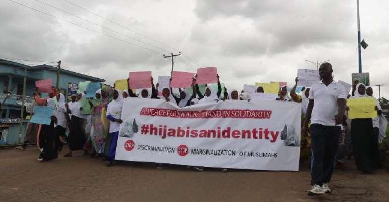 Kumasi Muslim Women Walk Against Anti-hijab