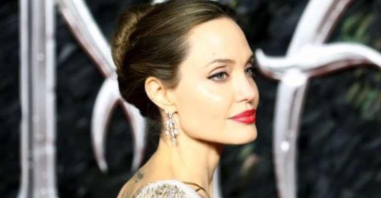Angelina Jolie, pictured at the London premiere of Maleficent: Mistress of Evil on Wednesday