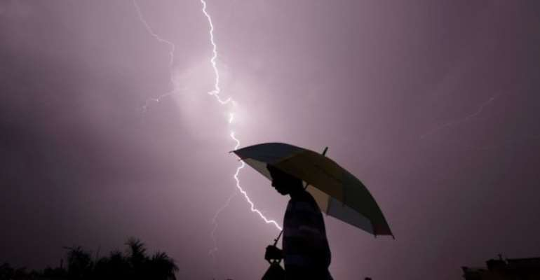 Lightning Struct Man To Death At Asokwa