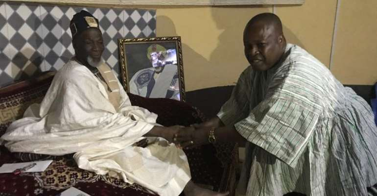 GFA Elections: Fred Pappoe Visits Dagbon Overlord Yaa Naa