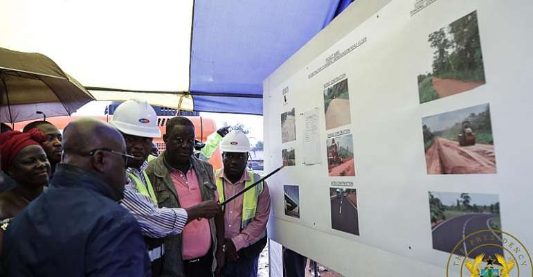 Akufo-Addo Cuts Sod For Anyinam TVET Centre