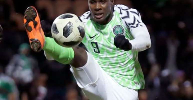 China-based Odion Ighalo hit a hat-trick for Nigeria in their victory over Libya in Uyo
