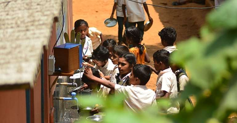 Handwashing robot helps schoolkids make a clean break with bad habits