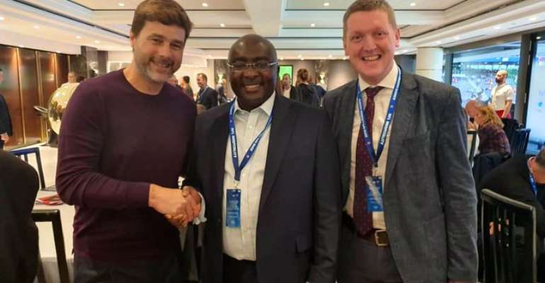 Dr. Bawumia Meets Tottenham Hotspurs Coach Mauricio Pochettino In London