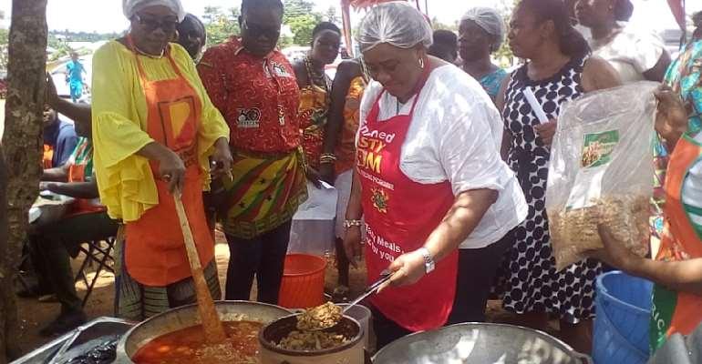 Gender Ministry Adds 'Gari Jollof' To School Feeding Menu