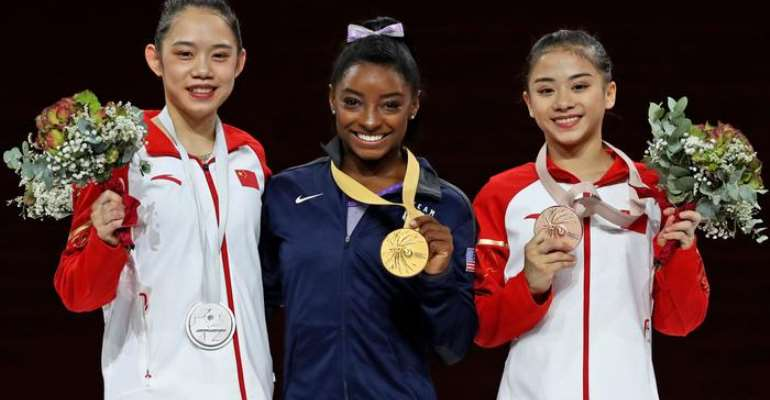 Gold Medal Gymnastics Champ Simone Biles Breaks World Record