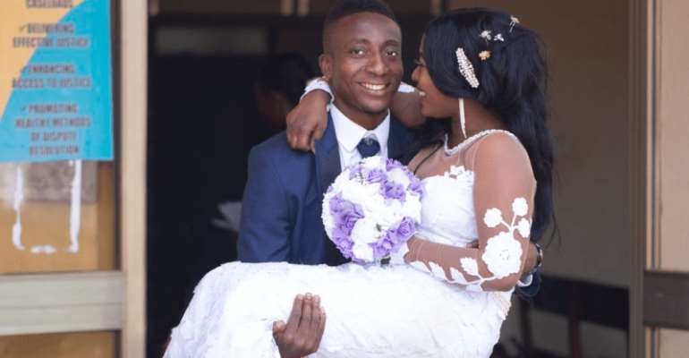 Felix Annan with his wife