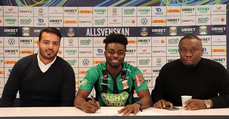 Swedish Outfit Varbergs BOIS FC Sign Gideon Mensah On A Permanent Deal