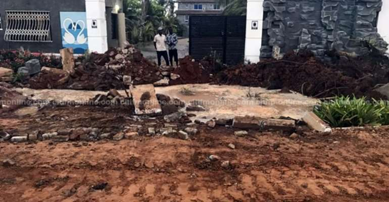 Portions Of Ave Maria Resort In Tema Demolished