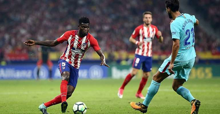 Thomas Partey Features In ATM, Barcelona Stalemate