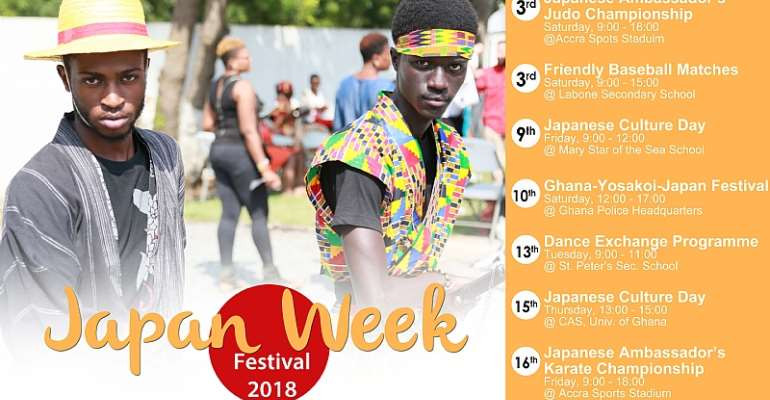 Japanese Embassy Set To Hold 2018 Japan Week Festival In Ghana