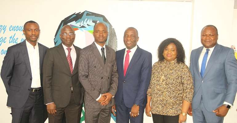 L-R: Anthony Ayoko, General Manager, thehatch; Koyejo Oladimeji-Talabi, Executive Director, Inlaks; Tope Dare, Executive Director, Inlaks; Femi Muraino, Executive Director, Inlaks; Adetokunbo Ayo-Ogunsanya, Group Head, Human Resource and Admin, Inlaks ; and Kingsley Oseghale, General Manager, Sales & Strategy,Inlaks