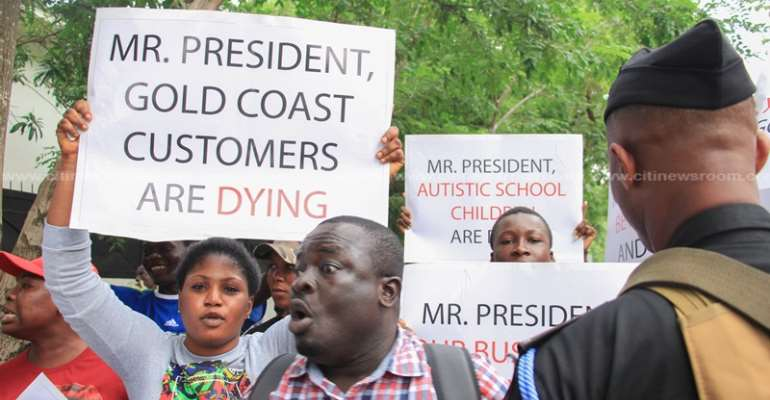 Aggrieved Gold Coast Fund Management Customers' Protest Today