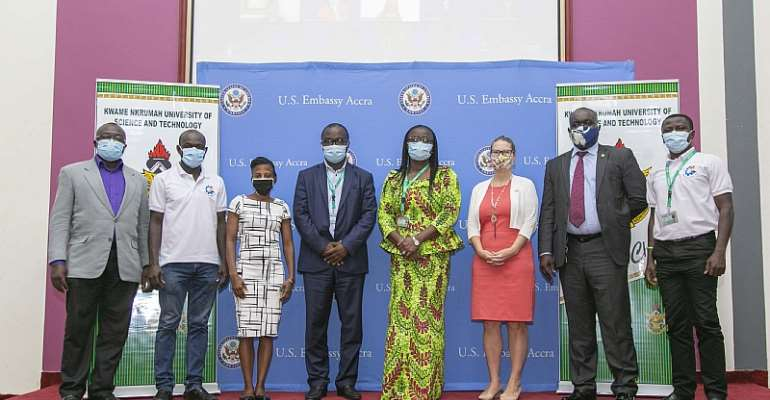 KNUST VC- Prof. Rita Akosua Dickson Together With U.S. Embassy Officials And Other Partners At The Launch Of The UPI