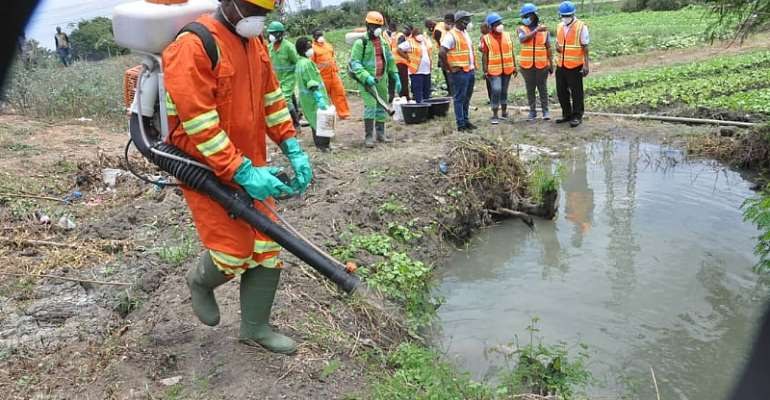 National Malaria Control Program (NMCP) Team Inspect Mosquito Control Exercise In Accra, Kumasi