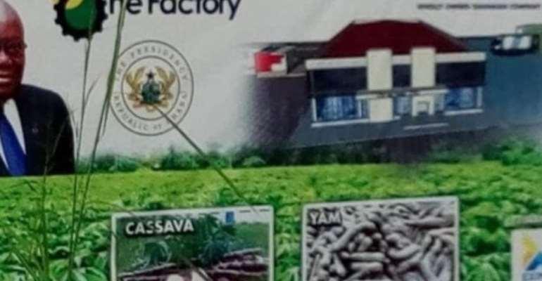 1D1F: Krachi East Cassava Processing Factory 97% Complete