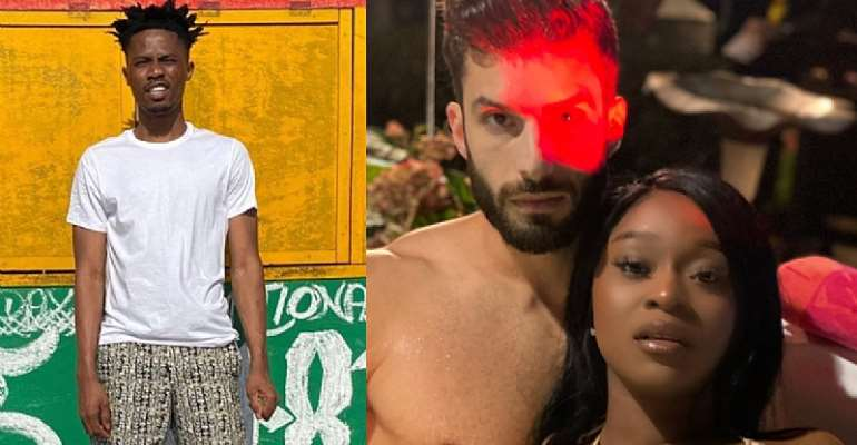 Kwesi Arthur Reacts As His Bestie, Efia Odo Flaunts Her White Fiancee