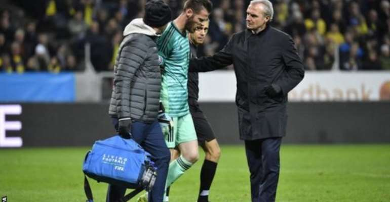 De Gea In Doubt For Liverpool Clash After Spain Injury