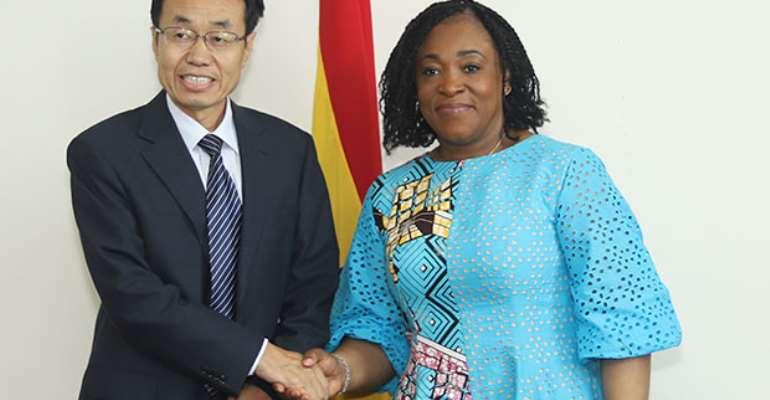 Shirley Ayorkor Botchwey with Shi Ting Wang