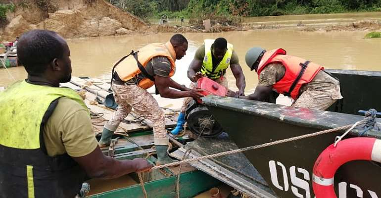Mining Equipment Seized From Galamsey Operators On River Offin