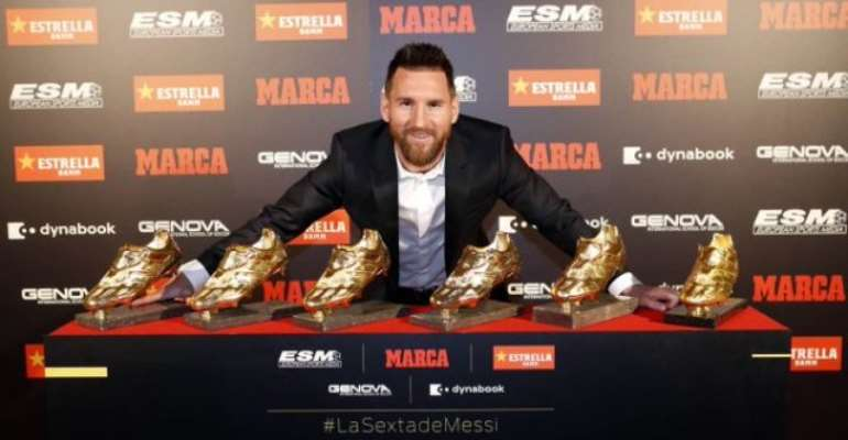 Messi Presented With Sixth European Golden Shoe Award