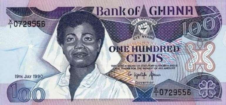 Docia Angelina Naki Kisseih on the ¢100 banknote