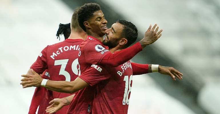 Three Late Goals See Manchester United Past Newcastle United