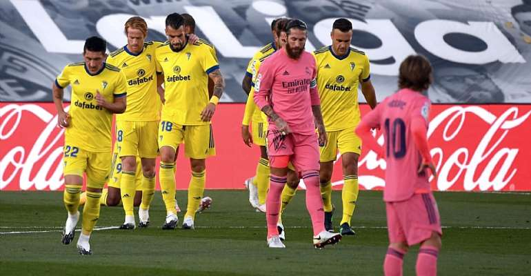Real Madrid Suffer Shock Home Defeat To Cadiz